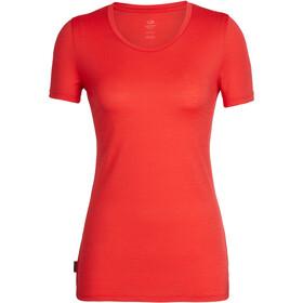 Icebreaker Tech Lite Bluzka z krótkim rękawem Kobiety czerwony